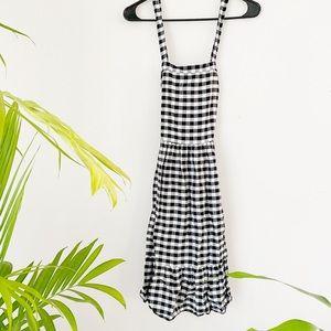 gingham cross back dress // loft
